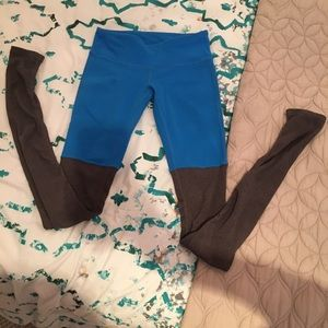 ALO Goddess Legging XS in Blue and Grey
